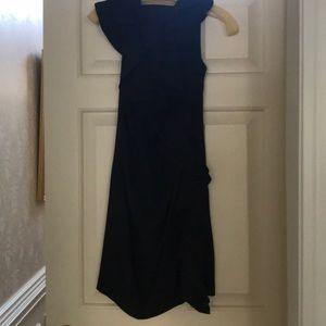 Eva Franco black ruffle dress size 0